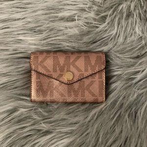 Michael Kors Rose Gold Metallic Card Holder